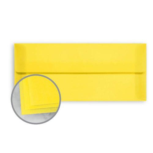 - Glama Natural Yellow Envelopes - No. 10 Square Flap (4 1/8 x 9 1/2) 27 lb Bond Translucent Vellum 500 per Box