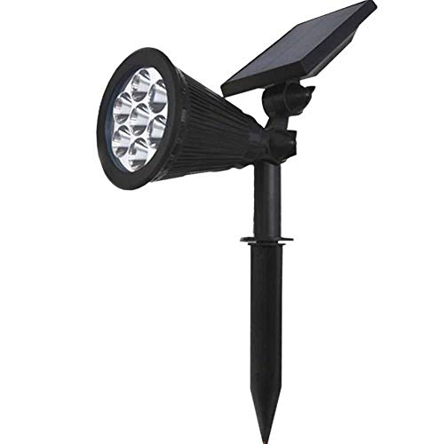 Solar Pathway Up Lights 7 LED Lawn Spotlight Color Changing Landscape Lighting for Tree Garage Wall in-Ground Garden Outdoor Night Waterproof Security Path Patio Yard Driveway Floodlight 1 Pack For Sale