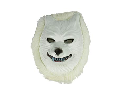 Set of 1 Faux Fur Animal Masks! Perfect for Dressup and Halloween! (Wolf Mask)