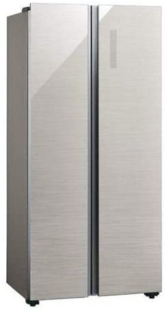アクア 449L 2ドア冷蔵庫(ヘアラインシルバー)AQUA AQR-SBS45J-S