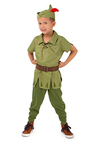 Little Adventures Child Peter Pan Costume (Large Age 5-7) Green ()