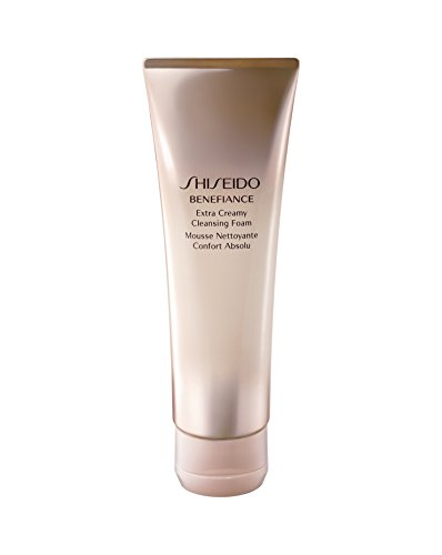 - Shiseido Benefiance Wrinkle Resist24 Extra Cream Cleansing Foam for Unisex, 4.4 Ounce