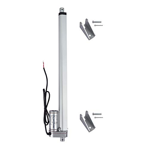 ECO-WORTHY 12V 16 Inch Stroke Linear Actuator 330lbs Maximum Lift with Mounting Brackets (12VDC 16