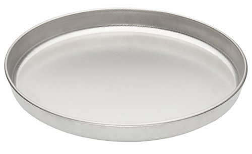 Fante's Micro-Textured Pizza Pan, 18/10 Stainless Steel, 13-Inch, The Italian Market Original since 1906 by Fante's