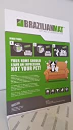 BrazilianMat Pet Hair Removal: Perfect for cleaning furniture, the car, bedding or anything else covered in pet hair!! 25 adhesive sheets in notepad form