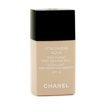 Exclusive By Chanel Vitalumiere Aqua Ultra Light Skin Perfecting Make Up SFP 15 - # 32 Beige Rose 30ml/1oz by Chanel