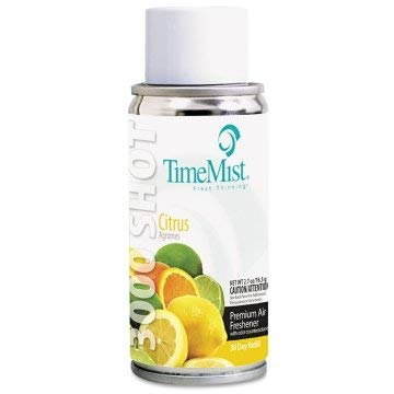 TimeMist Settings Micro Metered Aerosol Refills, Citrus, 3oz, 12/Carton