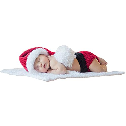 Santa Costumes For Baby Boy (Baby Santa Costume, Newborn Baby Christmas Short Cloth Photo Prop Outfit)