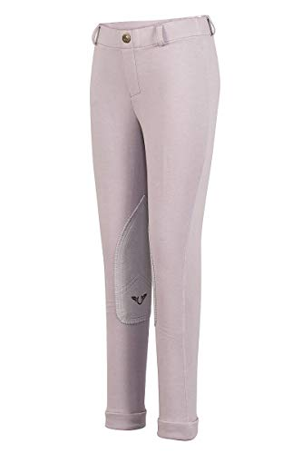 TuffRider Children's Starter Lowrise Pull-On Jods | Children UltraGripp Knee Patch Horse Riding Pants | Children's Equestrian Schooling ()