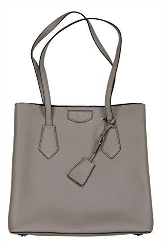 DKNY Sullivan Genuine Leather North South Tote Bag (Grey)