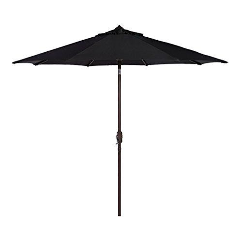 Bayside-21 Patio Umbrella 9 Ft Aluminum Outdoor Table Market Umbrellas with Auto Tilt and Crank (Sunbrella, Black) (Best Price On Patio Umbrellas)