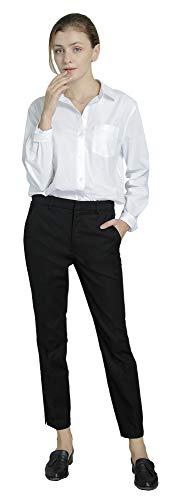 Marycrafts Women's Work Ankle Dress Pants Trousers Slacks ,Medium,Black 2 by Marycrafts (Image #5)