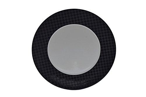 (Studio Nova Silhouette UH501 Black Check Large Dinner Plate Charge Serving 12.5