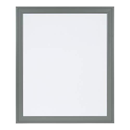 DesignOvation Bosc Decorative Framed Magnetic Dry Erase Board, 27.5x33.5 Gray