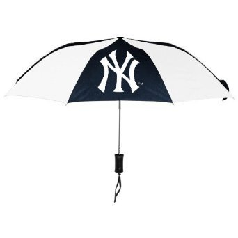 "Totes MLB Auto Fold 48"" Umbrella NY Yankees"