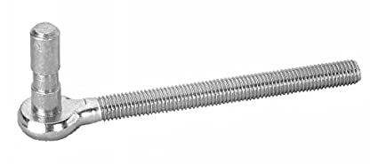 Pollmann Baubeschl/äge 1120100 Haken K zum Durchschrauben hell verzinkt 2 St/ück 100 mm lang Dorn /Ø 10 mm