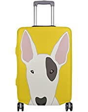 Mydaily Bull Terrier Dog Luggage Cover Fits 22-24 Inch Suitcase Spandex Travel Protector M