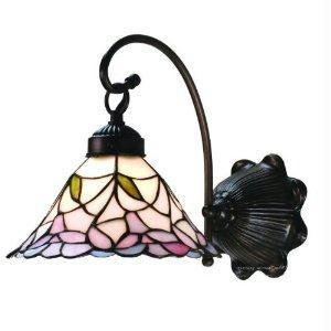 8.5 Inch W Daffodil Bell 1 Lt Wall Sconce Wall (Cottage Stained Glass Chandelier)