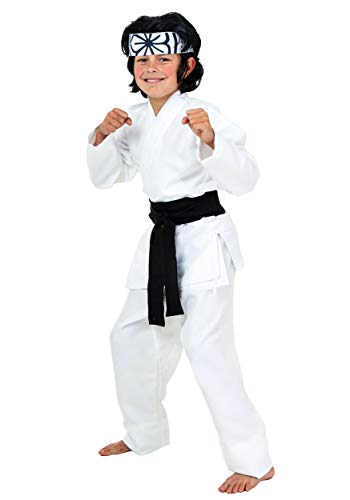 Karate Kid Costumes (Child Karate Chop Daniel San Black Belt Costume -)