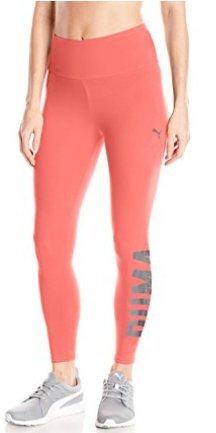 PUMA Women's Swagger Leggings, Paradise Pink/Black, M for $<!--$18.69-->