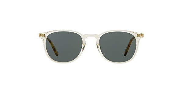 819853a4f50 Amazon.com  Garrett Leight Square Kinney Sunglasses in Champagne-Champagne  Dark Tortoise Fade Blue Smoke Polar  Clothing