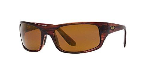 Maui Jim Mens Peahi Sunglasses Brown/Brown Plastic - Polarized - - All Are Maui Polarized Jims