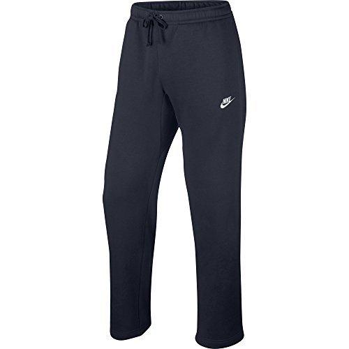 Nike Mens Open Hem Fleece Club Sweatpants Obsidian Heather/W