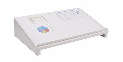 Design Vorlagenhalter Dokumentenhalter Laptophalter Weiss seidenmatt B / H / T 50 x 12 x 30 cm