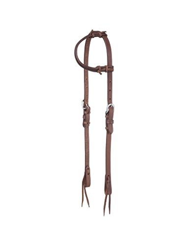 Tough-1 Harness Leather One Ear Headstall w/Tie
