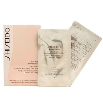 Shiseido Night Care 4Pairs Benefiance Pure Retinol Intensive Revitalizing Face Mask For (Benefiance Mask)