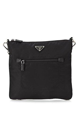 Prada Tessuto Nylon Bandoliera Crossbody Bag Messenger BT0716 Black - Men Bags Prada