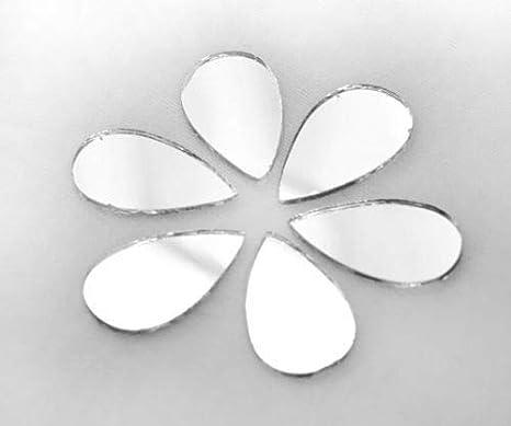 25pcs de Plata en forma de Lágrima de Cristal de Espejo Pegamento En Cabujón de Decoración de Bordado a Mano Orfebrería de Luneville Tambor Indio de la Shisha Boho 25 mm x 12 mm