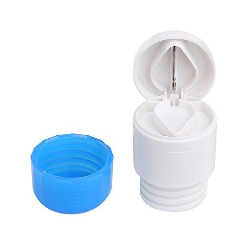 Shintop Pill Cutter Grinder, 3-in-1 Multifunctional Round Tablet SplitterCrusher for Medicine or Vitamin (Blue)