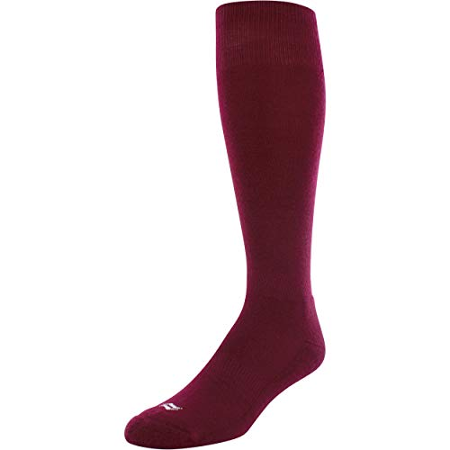 Sof Sole Baseball Performance Socks 2 Pack (Mens Large 10-12.5,, Maroon)