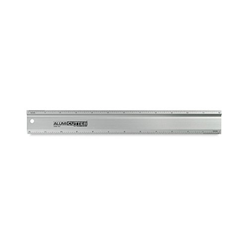 Safety Ruler Cutting Straight Edge - Alumicolor Alumicutter, Safety Ruler and Straight Edge, Aluminum, 36 inches, Silver (1316-1)