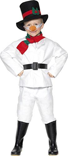 [Large White Children's Snowman Costume] (Carrot Costume Uk)