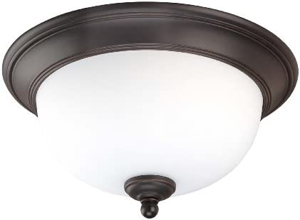 Nuvo Lighting 60 2465 Keen 2-Light Vanity with Satin White Glass, Brushed Nickel with Ebony Wood