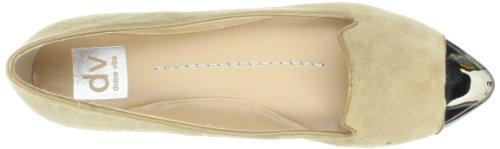 Dv By Dolce Witte Dames Lunna Ballet Plat Naakt Suède