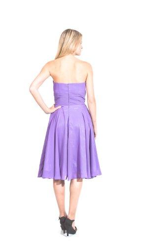 AvaMia, Cocktailkleid, Festliches Chiffon Abendkleid, Chiffonkleid, Kleid, knielang, Farbe Flieder, EU 38