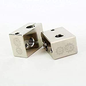 Genuine E3D v6 Plated Copper Heater Block (V6-BLOCK-CARTRIDGE-COPPER) 9