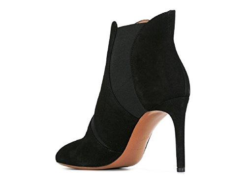 Femme 6W3T123CC06 ALAÏA Bottines Noir Suède Az4qW4Hw
