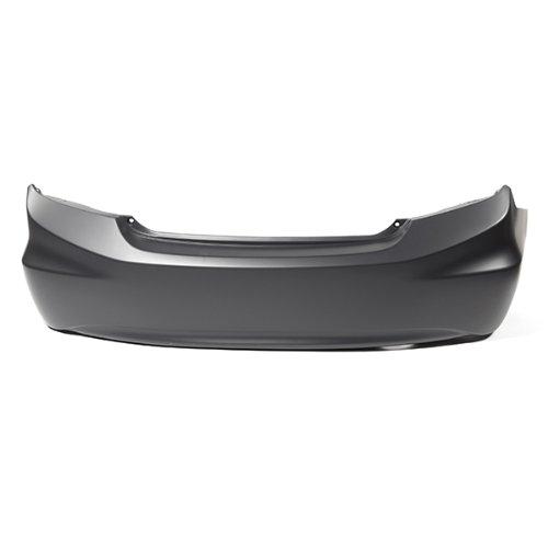 CarPartsDepot, Sedan Unpainted Rear Bumper Cover Replacement Primed, 352-202230-20-PM HO1100272 04715TR3A90ZZ