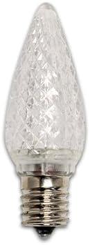 E17 Light Bulb 5 Watt Equivalent Red 1-Pack Bulbrite LED Colors C9 Non-Dimmable Intermediate Base
