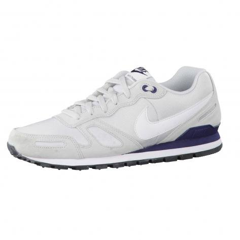 NIKE Air Waffle Trainer Mens Trainers 429628 Sneakers Shoes (US 7, Pure Platinum White Obsidian 095) -
