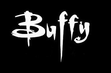 Buffy White Decal Vinyl Sticker|Cars Trucks Vans Walls Laptop| White |5.5 x 3.5 - Buffy Sunglasses