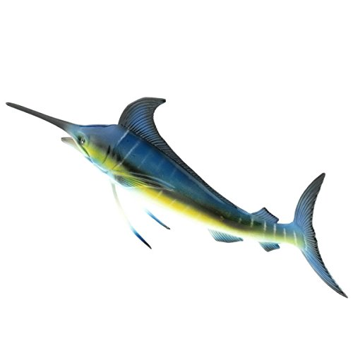 Gresorth 6 X 4 Inch 3D Fake Sailfish Model For Dispaly Artificial Marine Animals Decoration Early Education Props
