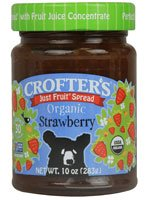Crofters Organic Just Fruit Spread Strawberry -- 10 oz by Crofters