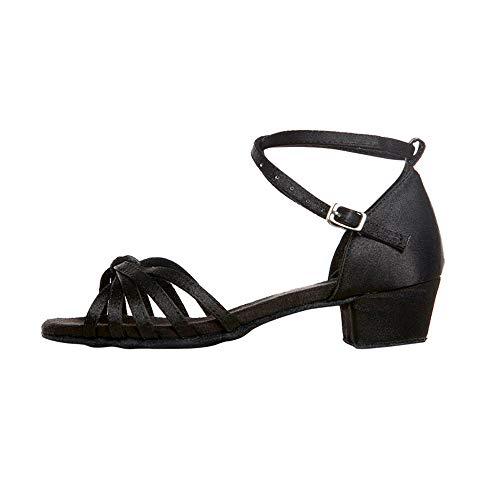 Latine Salsa Pour Bal Chaussures Et Femme Standard Cuir Dulee Plates Danse Fille De Salle En xO1RBS