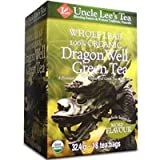 Organic Whole Leaf Dragon Well Green Tea, 18 Bags by Uncle Lees Teas (Pack of 3)
