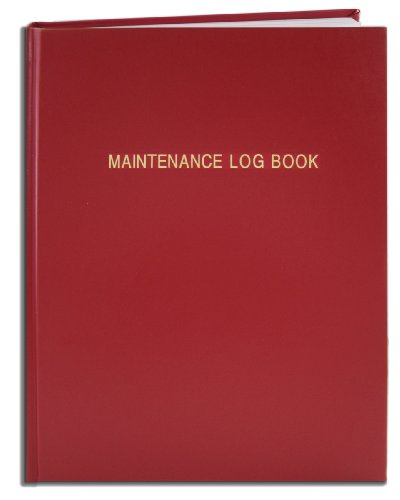 BookFactory Maintenance Log Book - 120 Pages, 8